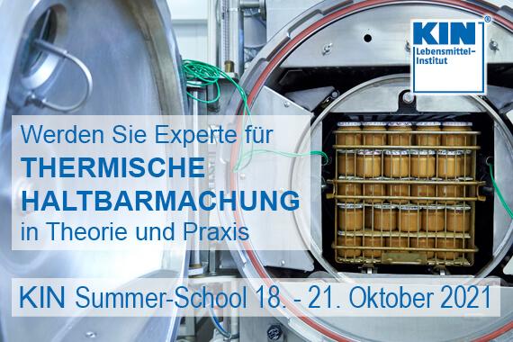 """KIN-Summer School –  """"Qualifizierung zum Prozessmanager thermische Haltbarmachung"""""""
